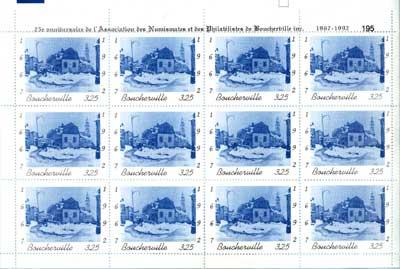 Feuille de 12 timbres